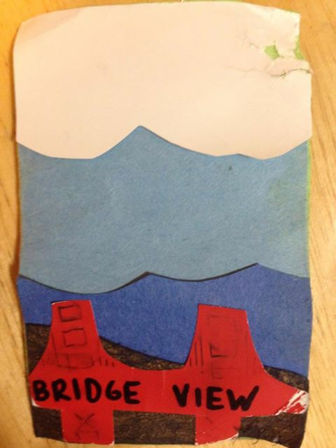 card presented to Ana Braga-Levaggi at Bridge View aid station. It got a slight bit of water damage on the way.