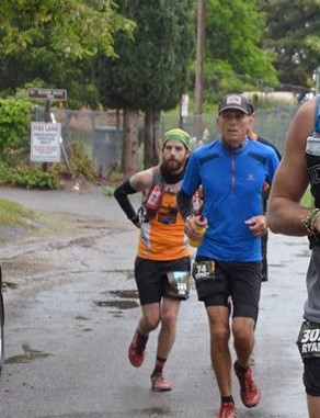 That fierce look of determi... nah, I'm just kidding (photo courtesy of Single Track Running)